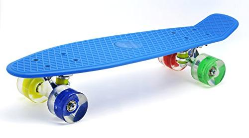 "Merkapa 22"" Complete Skateboard with Colorful LED Light Up W"