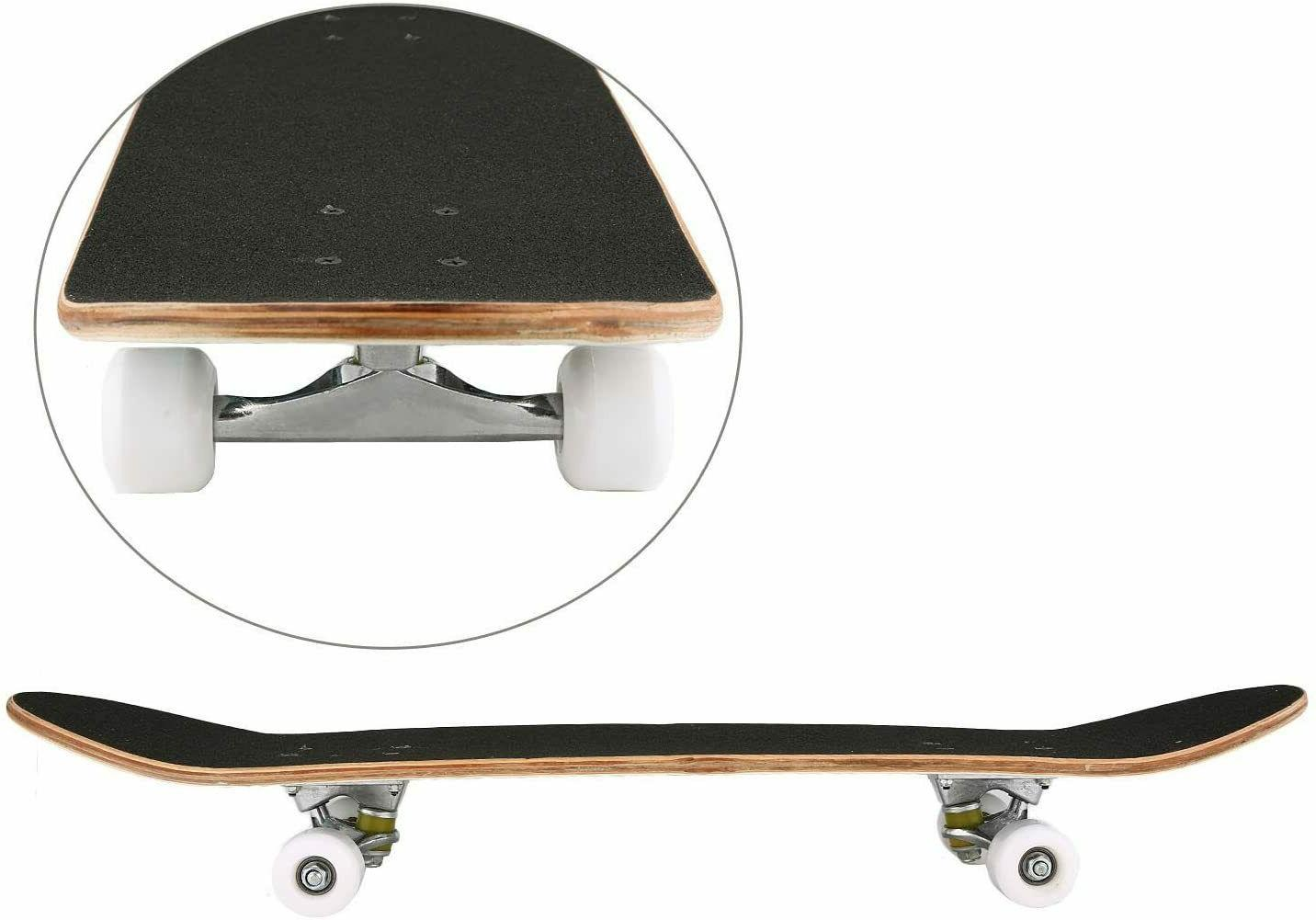 Complete Skateboard Standard 31x8 Inch Deck for