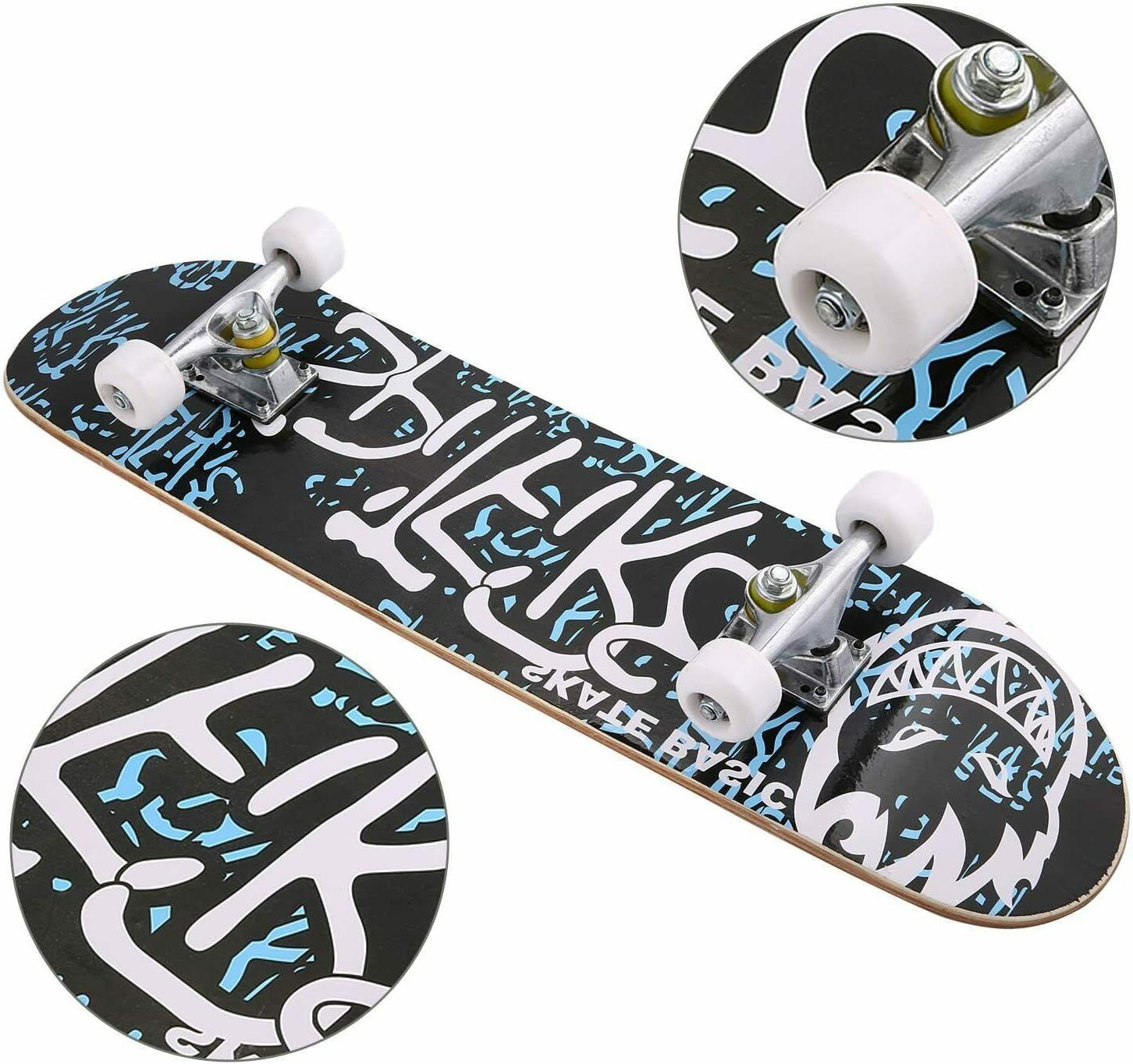 "Pro Skateboards Size Maple Deck Skateboard 31"" X 8"""