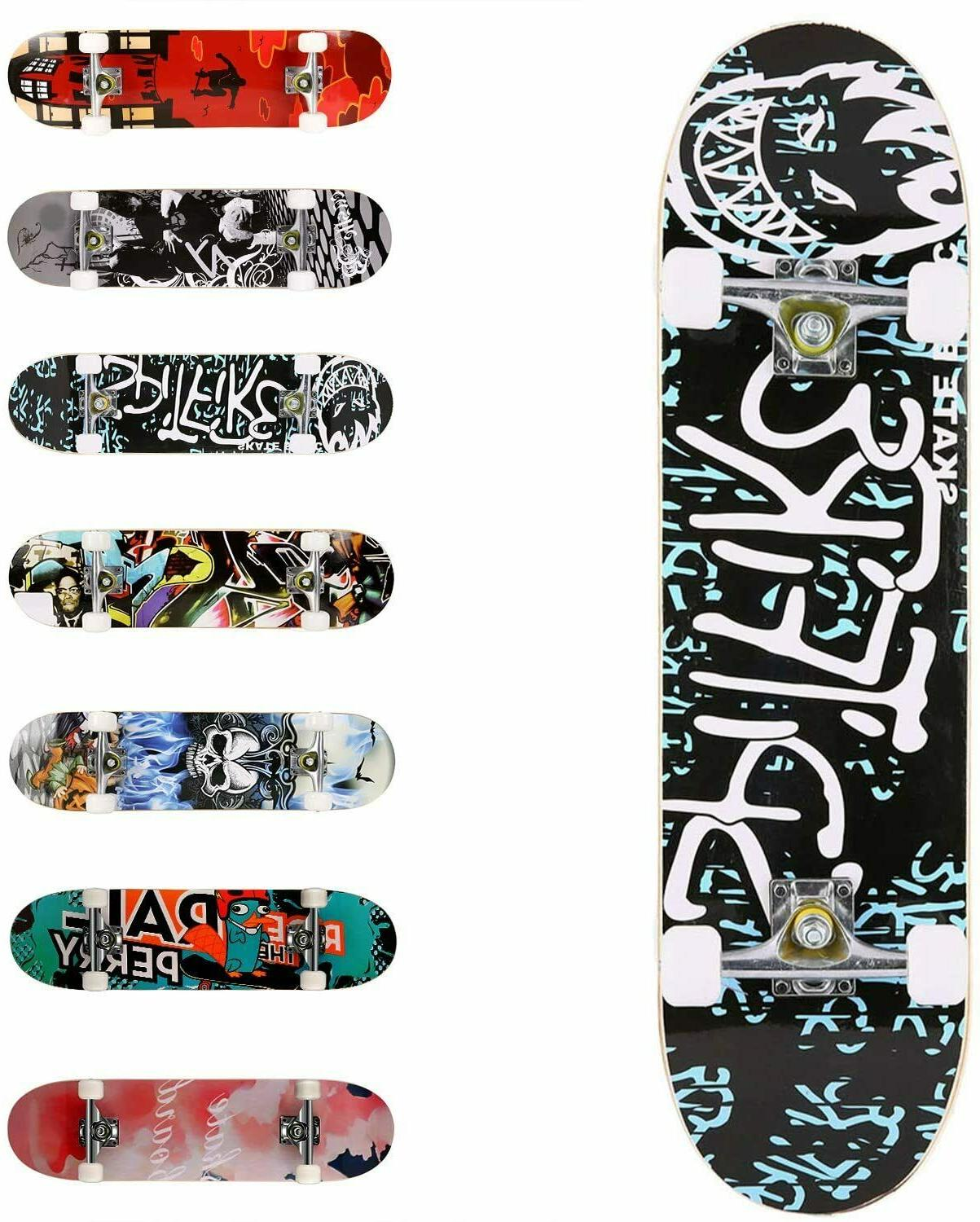 complete skateboard standard 31x8 inch with double