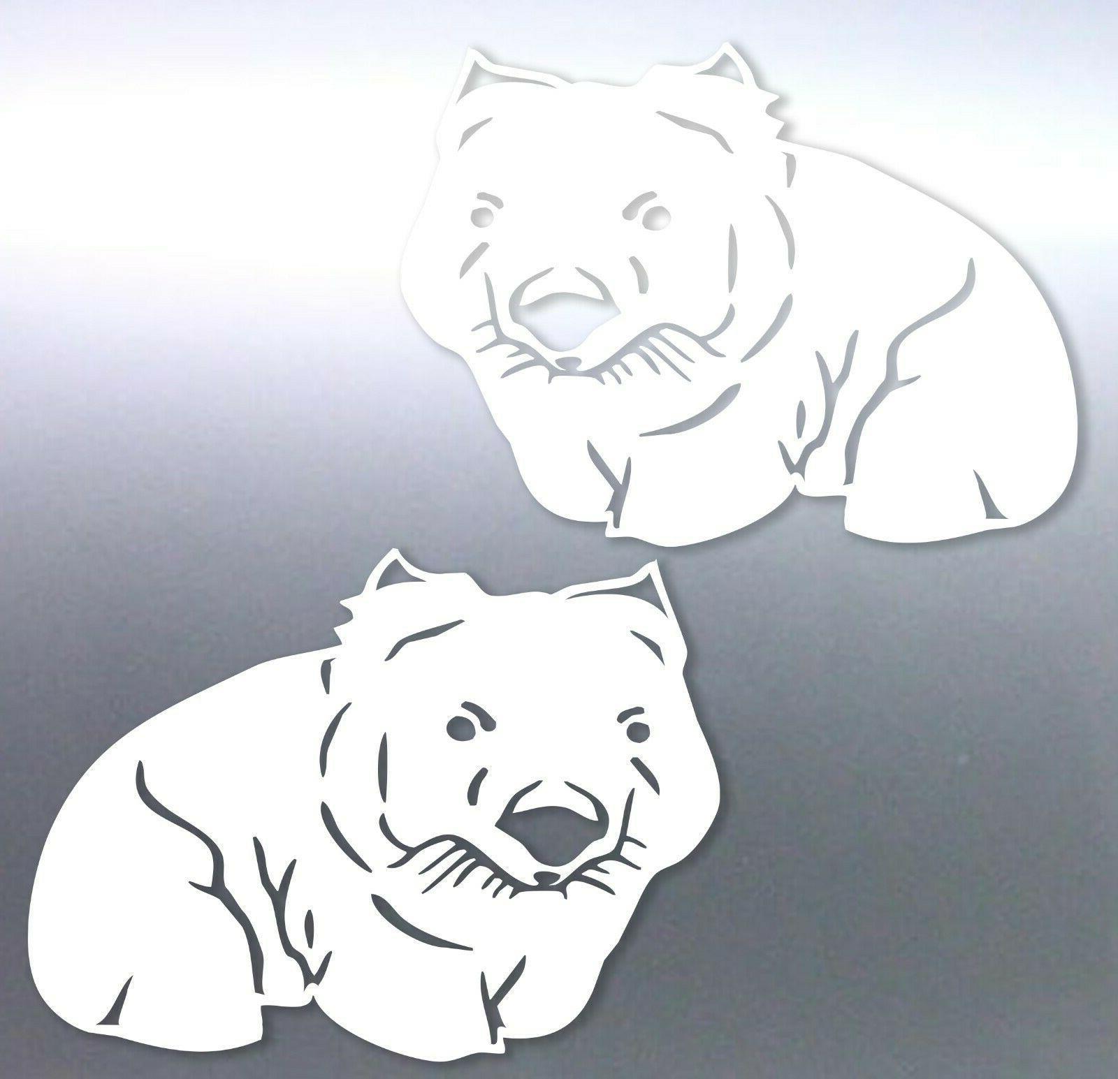 cute wombat australian animals vinyl cut sticker