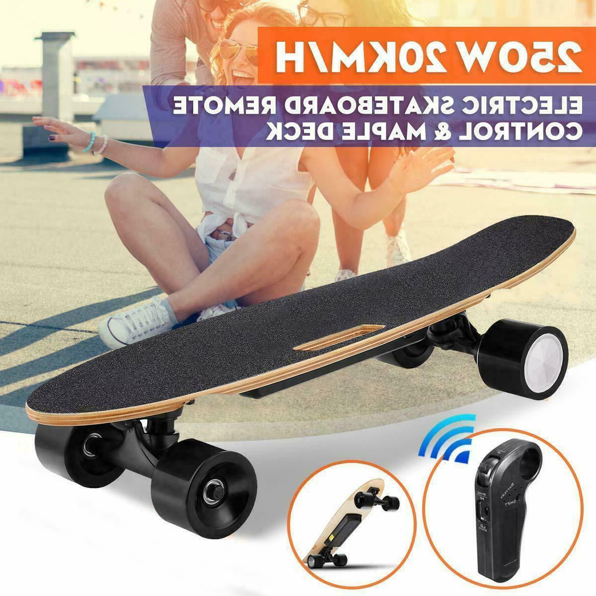electric skateboard 350w motor longboard board wireless