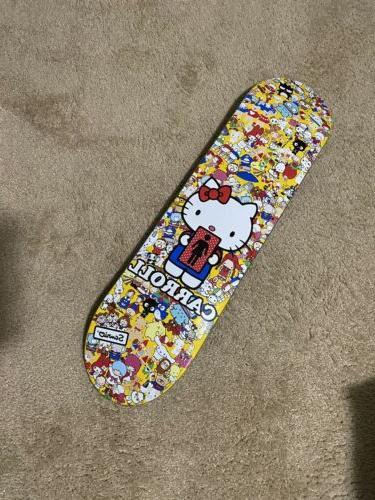 hello kitty skateboard deck