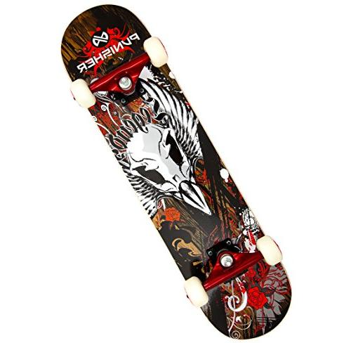 Punisher Skateboards Legends Complete 31-Inch Skateboard wit