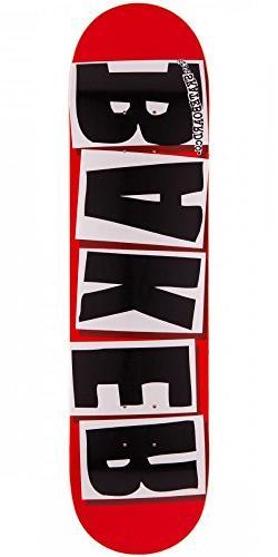 "Baker Brand Logo Red with Black Letters 7.88"" Skateboard Dec"