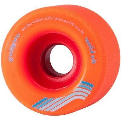 longboard skateboard wheels kilmer 69mm orange