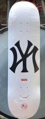 new york yankees skateboard deck white brand
