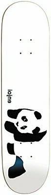 """Enjoi Panda Logo R7 Skateboard Deck, Whitey, 7.75"""" W"""