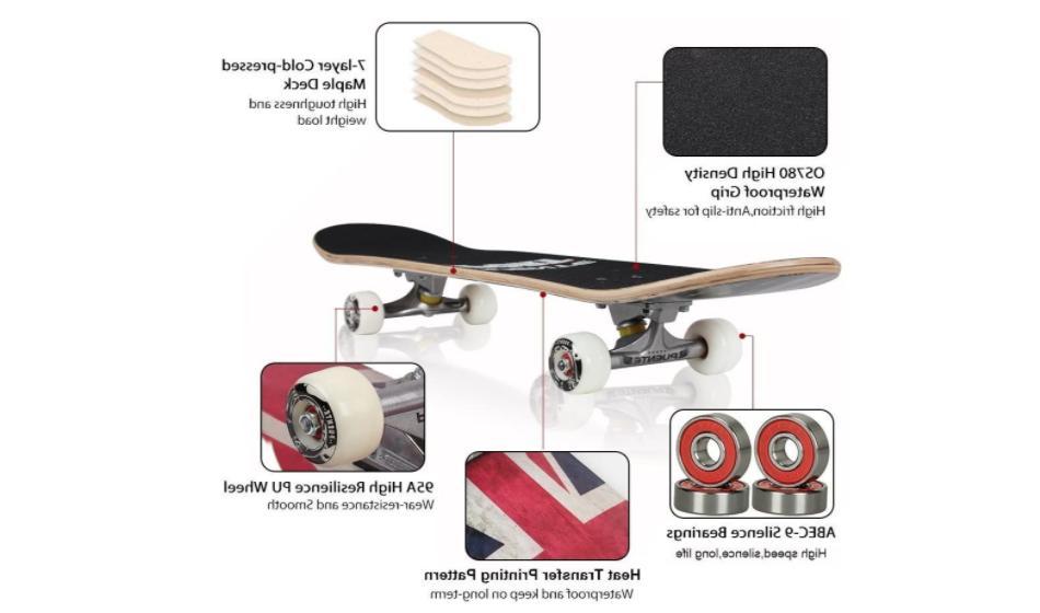 """Pro 8"""" Standard Skateboards Complete"""