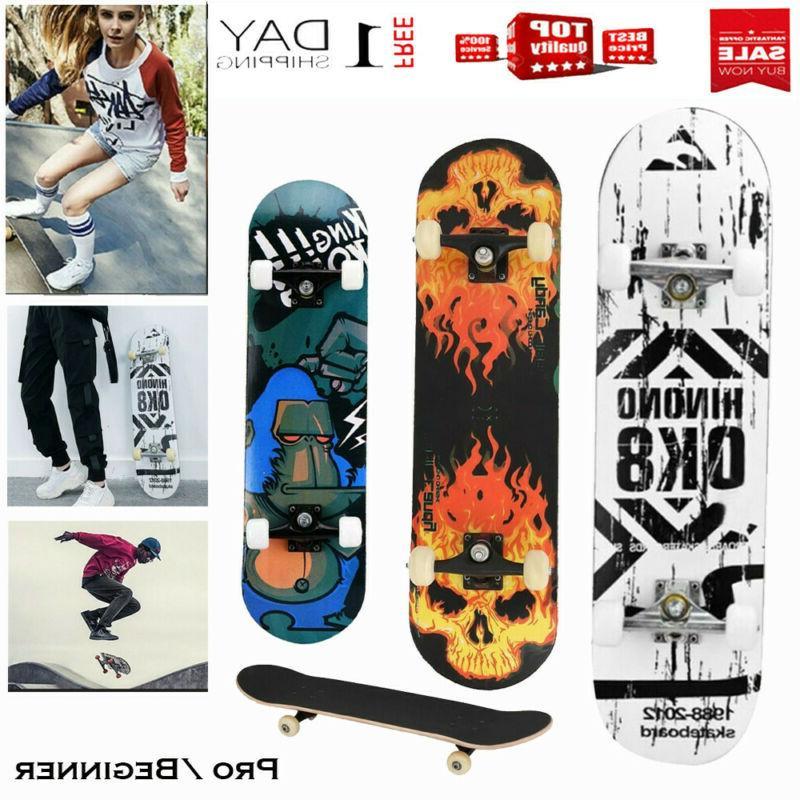 pro skateboard black blue complete skateboard maple