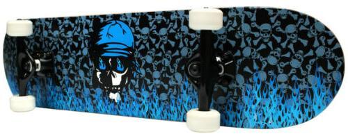 pro skateboard complete blue flame 7 75