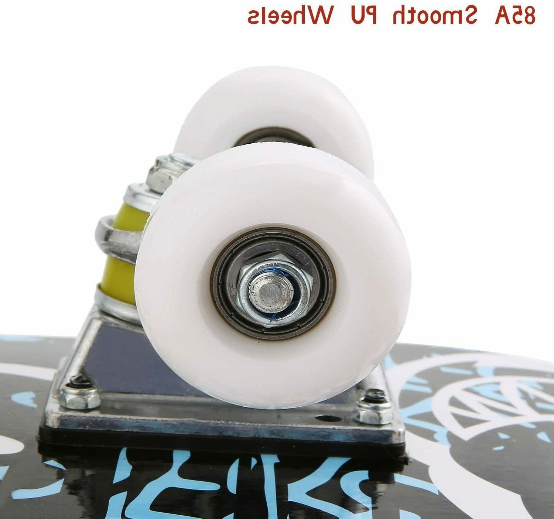 "Pro Skateboards Complete Size Standard Maple Deck Skateboard 31"" 8"""
