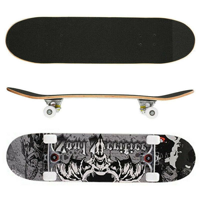"Details about  /Skateboard 7 Layers Decks 31/""X8/"" Pro Complete Skate Board Maple Wood Longboards"