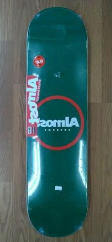 Almost Skateboards Red Ring Resin Green deck 8.0