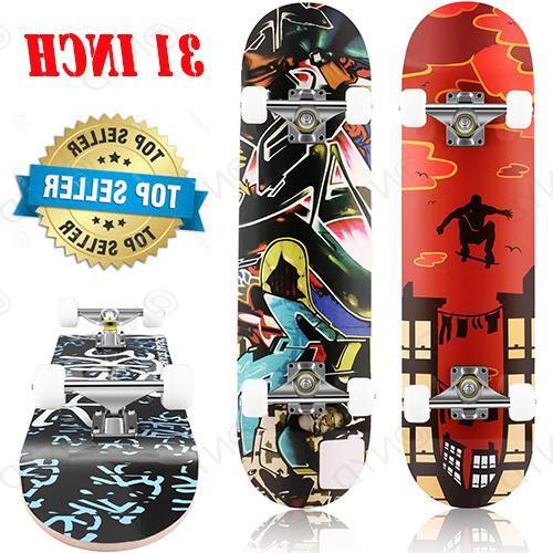 22/26/31In Beginners Complete Skateboard Maple Deck