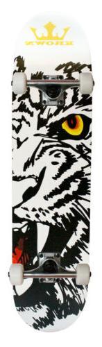 "KROWN Skateboard Bengal Tiger 7.5"" x 31.5"""