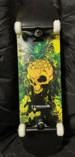 "MINORITY Skateboard Complete 32"" Maple Deck Pineskull"