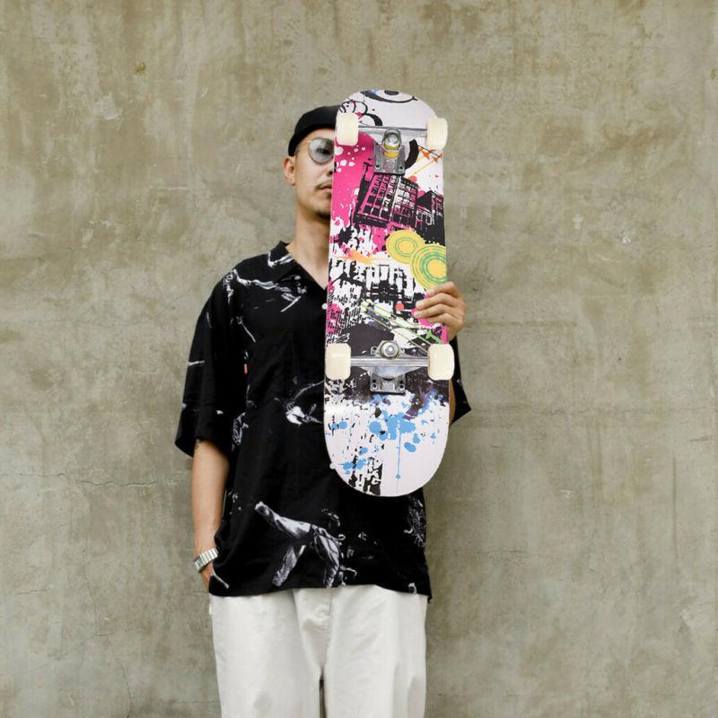 Skateboard 31x8 &Children Adults Black