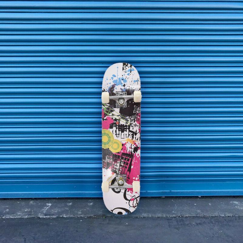 skateboard complete 4 wheels 31x8 inch
