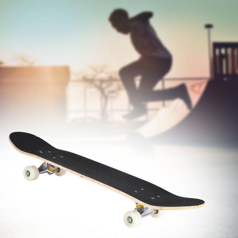 Skateboard 31x8 For &Children Adults Black