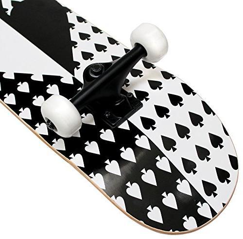 PRO Skateboard Complete Ace Spade 7.75 in