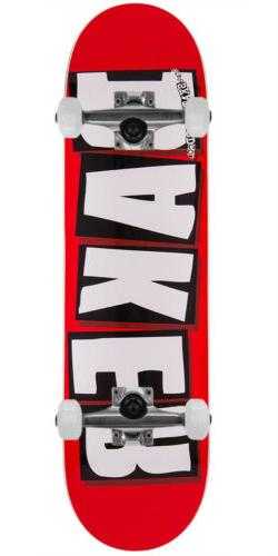 """Baker Skateboard Complete Brand Logo White 8.125"""" Raw Trucks"""