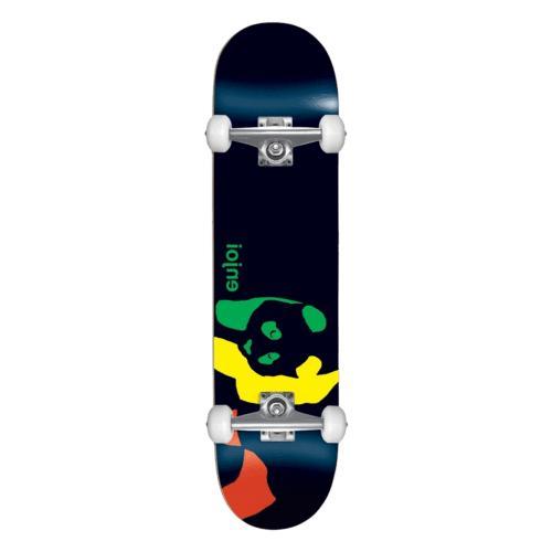skateboard complete rasta panda black 7 0