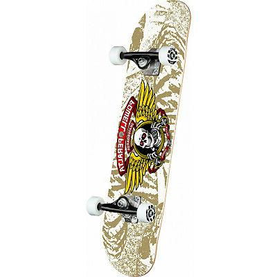 skateboard complete winged ripper white 7 0