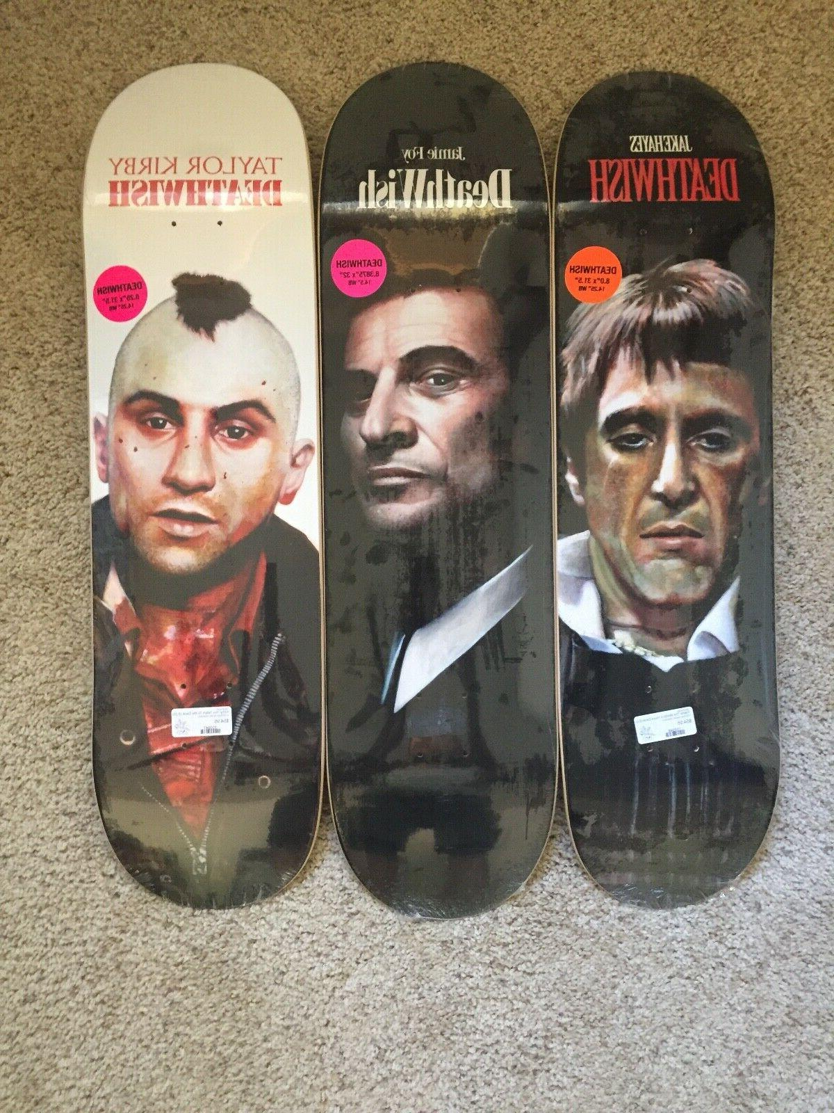 skateboard deck bad guys set of 3