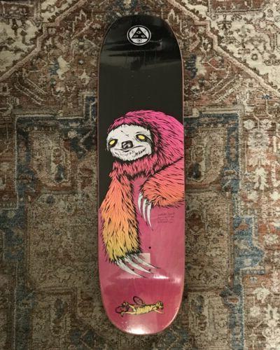 skateboard deck sloth on moontrimmer 2 0