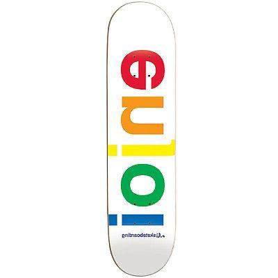 skateboard deck spectrum white 9