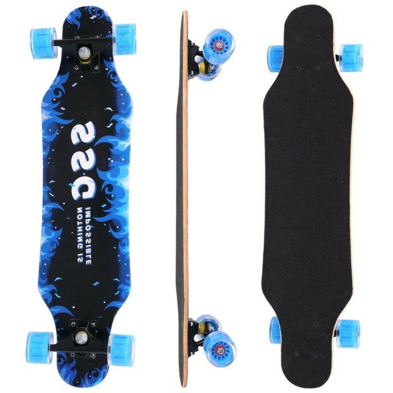 "Skateboard Flash Wheel 7 Layer 31"" Complete SkateBoard For T"