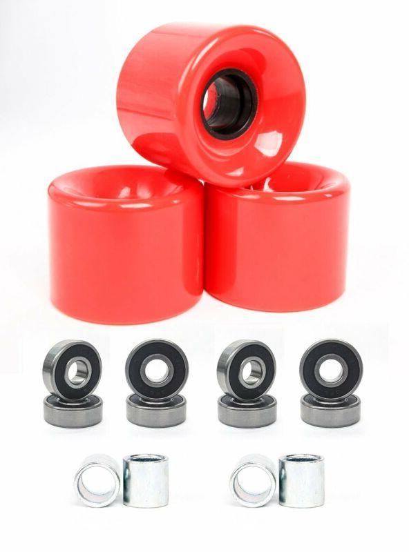 Freedare 58Mm Skateboard Wheels 82A + Abec-7 Bearing Steel A