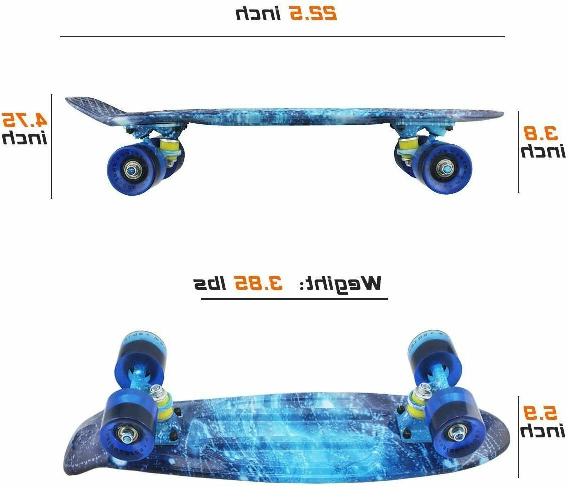 Skateboards Mini Cruiser for Kids Boys