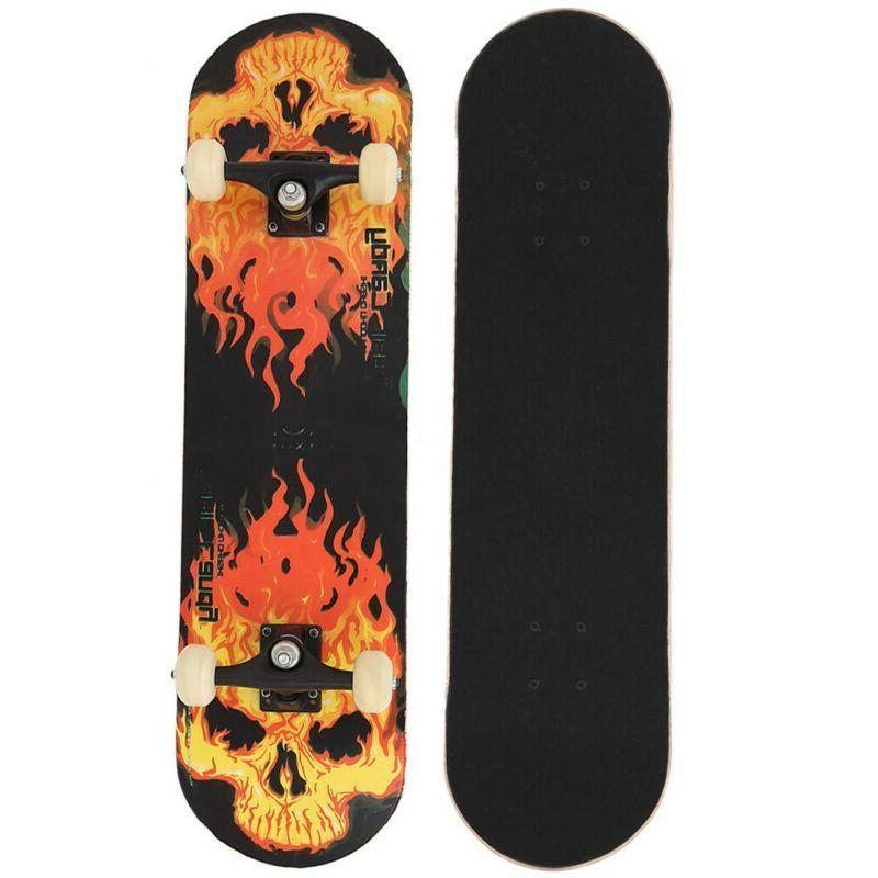 Pro Black Blue Complete Skateboard Youth