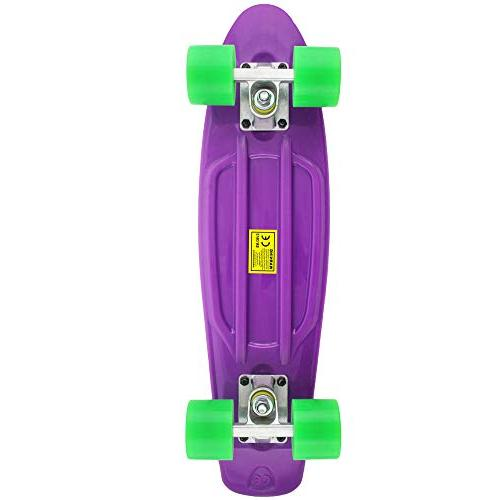 MEKETEC Complete 22 Inch Mini Skateboard for Youths Beginners