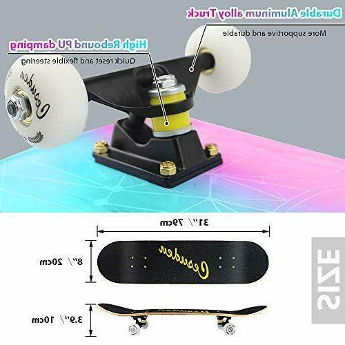 ANDRIMAX Skateboards-Complete Beginners Kids Adults Y