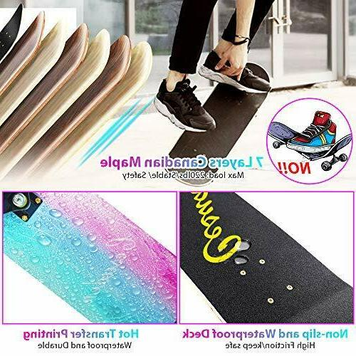ANDRIMAX Skateboards-Complete for Beginners Boys Adults Y