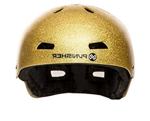 Punisher Skateboards Youth 13 Dual Safety Certified Bike & Gold, Medium