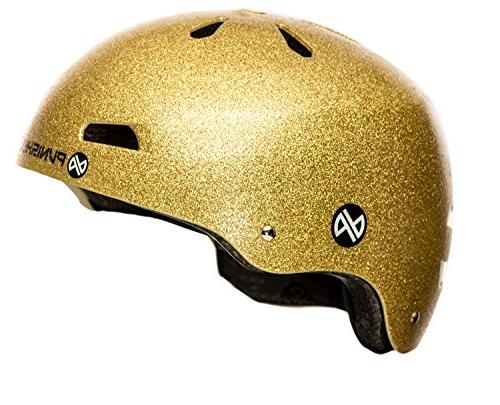 Punisher Skateboards Pro Youth 13 Vent Flake Dual Certified Bike Gold,
