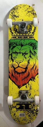 Krown KRRC-52 Zion Lion Rookie Complete Skateboard, 7.5 x 31