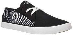 Volcom Mens LO FI Fashion Sneaker Skate Shoe, Stoney Black,