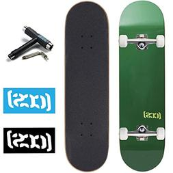 CCS Skateboard Complete - Color Logo and Natural Wood - Full