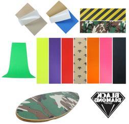 """Black Diamond Longboard Skateboard Grip Tape Sheet 10"""" x 48"""""""