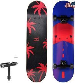 M Merkapa 31 Pro Complete Skateboard 7 Layer Canadian Maple