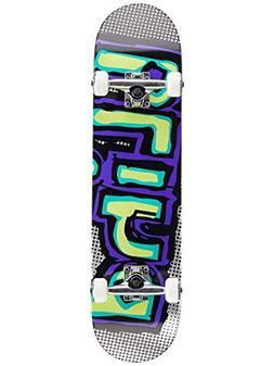 Blind Matte OG Logo Skateboard Complete Green/Purple Sz 7.75
