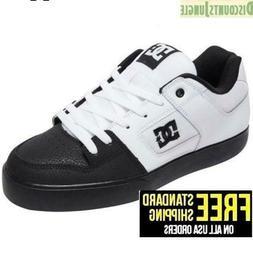 DC Men's Pure Skate Shoe, White/Black/Black, NEW IN BOX Foot