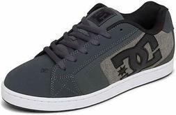 DC Men's NET SE Skate Shoe, Black/Grey, 13 Medium US