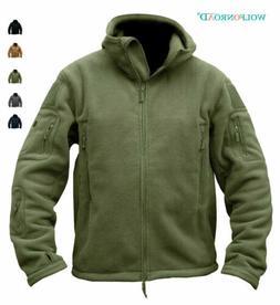 Men's Fleece Jackets Military Outdoor Winter Coats Tactical