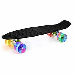 """Merkapa 22"""" Complete Skateboard with Colorful LED Light Up W"""